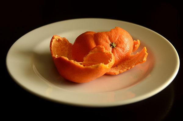 Orange Peel Still Life